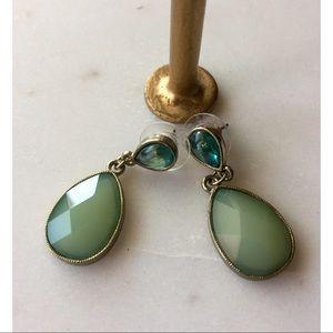 FOSSIL Green Stud Teardrop Earring